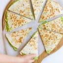 Avocado Quesadilla Cut into Triangles