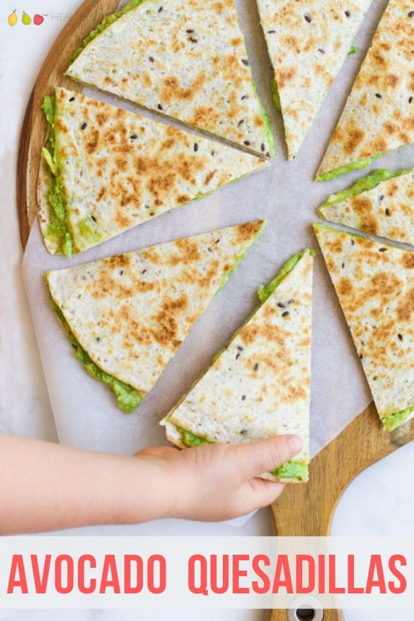 These Avocado Quesadillas are quick and easy lunch perfect for kids.  Keep the recipe as is or choose one of the veggie add in options given.#kidslunch #lunch #lunchidea #quesadilla #avocadoquesadilla #kidsfood #kidfood