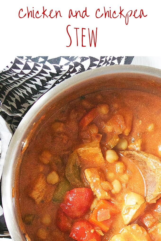 Chicken Chickpea Stew. A great one pot dish