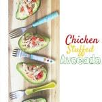 Chicken stuffed avocado