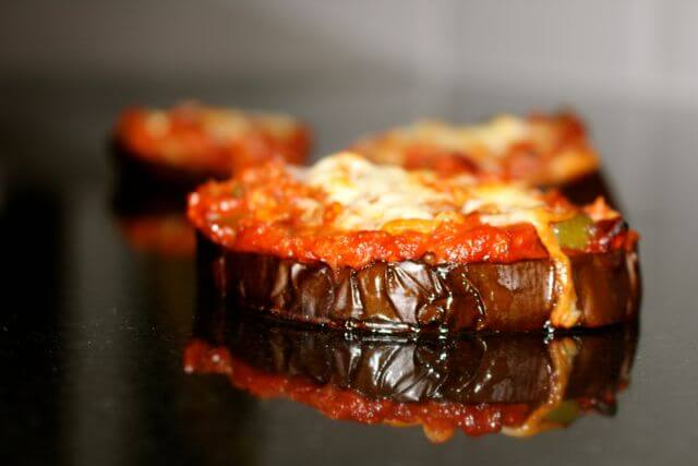 aubergine (eggplant) pizza