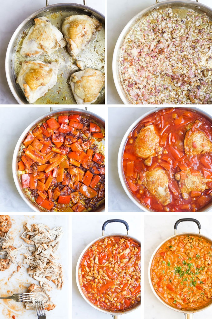 Chicken and Chickpea Stew Process Steps