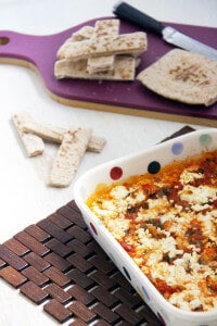 Feta Prawns with Pitta Dippers