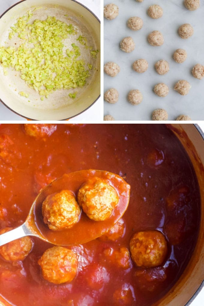Turkey Meatballs Process Steps
