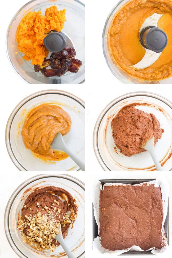 Sweet Potato Brownies Process Steps