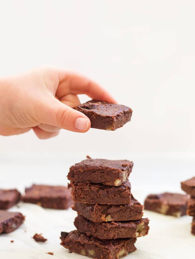 Sweet Potato Brownies Stacked Up