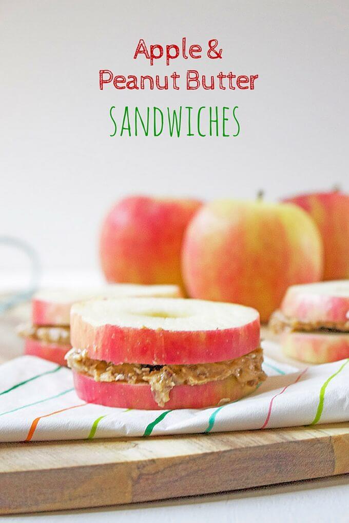 Apple Peanut Butter Sandwiches