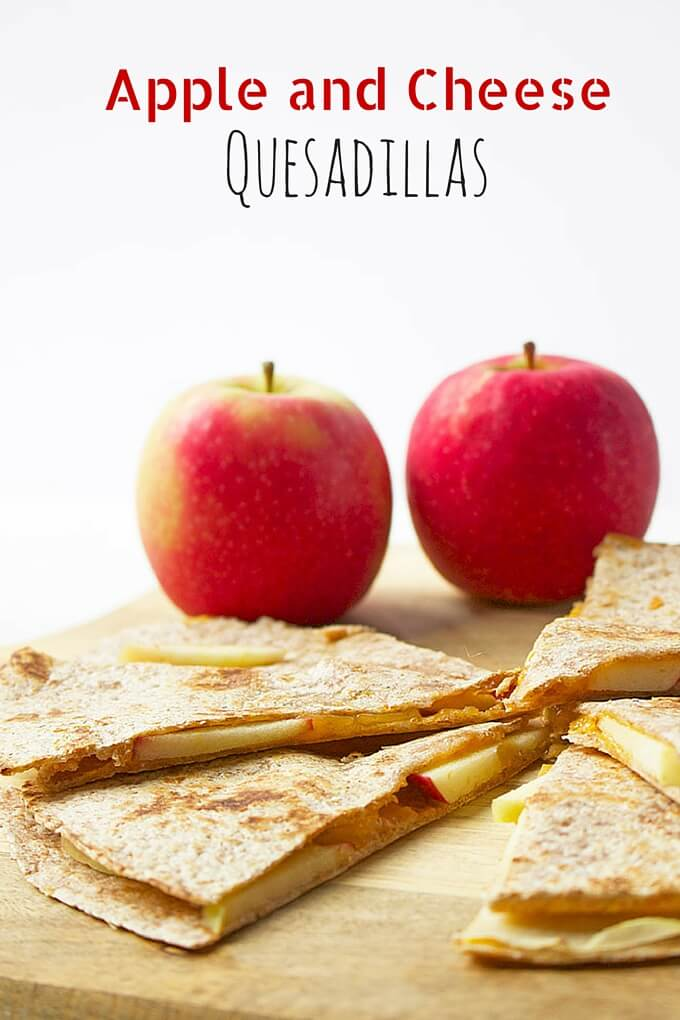Apple and Cheese Quesadillas