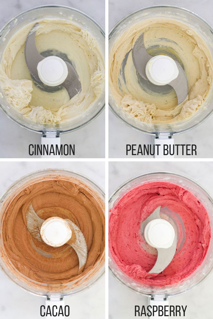 4 Different Banana Ice Cream Varieties in Food Processor