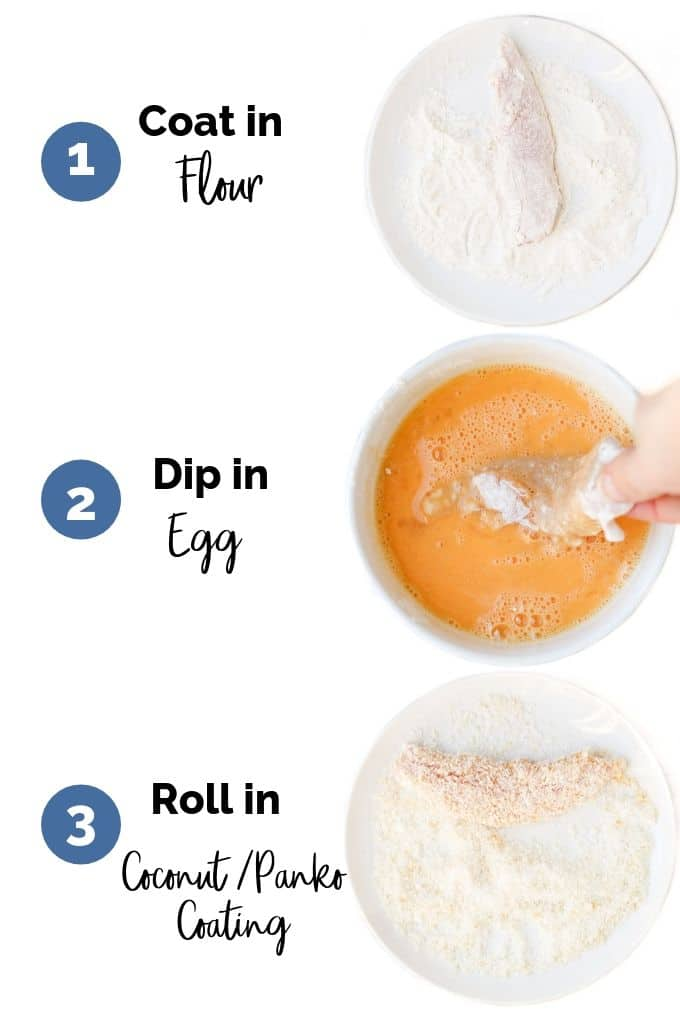 Process Steps for Coating Coconut Tenders