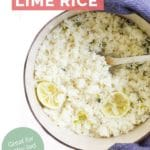Coconut and Lime Rice Pin