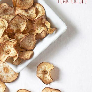 ginger pear crisps