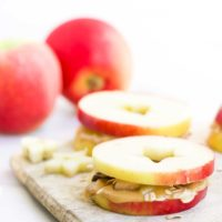 Apple and Peanut Butter Sandwiches
