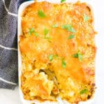 Baked Butternut Squash mac and Cheese in Individual Dish