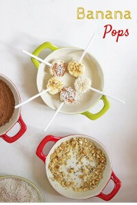 Banana Pops - a healthy and fun kids' snack