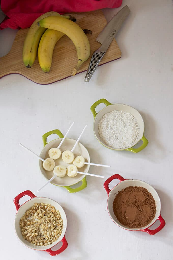 Banana Pops - A healthy snack for kids