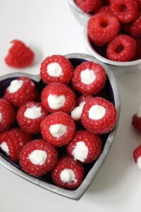 Yogurt Filled Raspberries