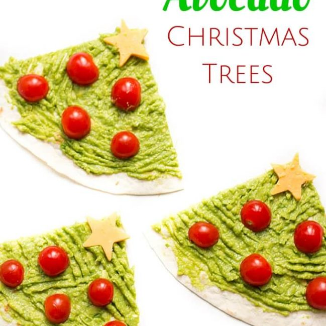 Avocado Christmas Trees - A healthy Christmas themed lunch idea for kids.