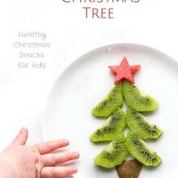 Kiwi Christmas Tree - a healthy Christmas themed snack for kids.