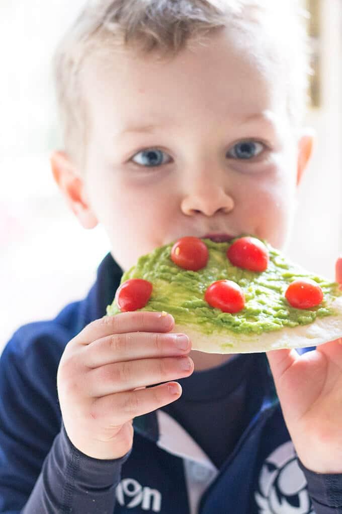 Avocado Christmas Trees - healthy little foodies