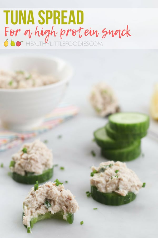 A healthy, lighter version of Tuna Salad. A great, high protein, spread to serve with veggies, crackers or toast. Brilliant for alunch or as an after school snack.