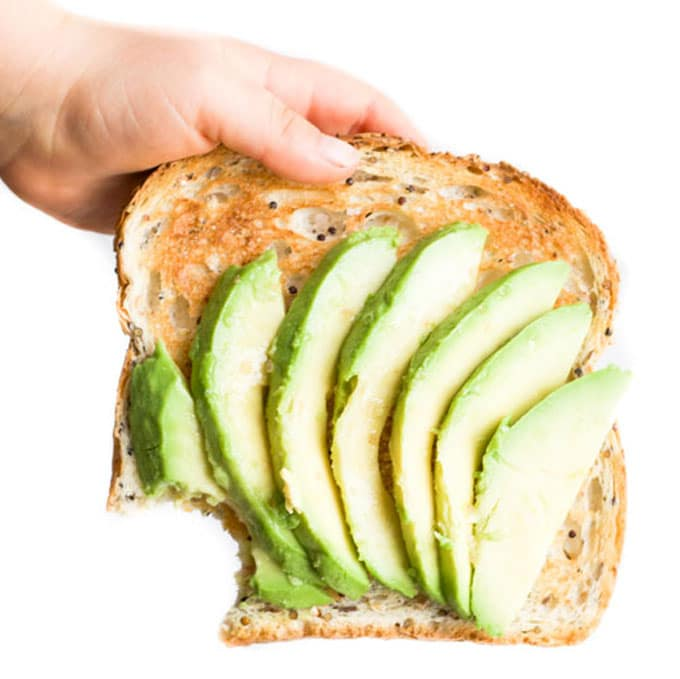 Slices of Avocado on Toast