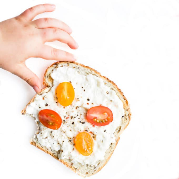 Cottage Cheese and Cherry Tomato on Toast