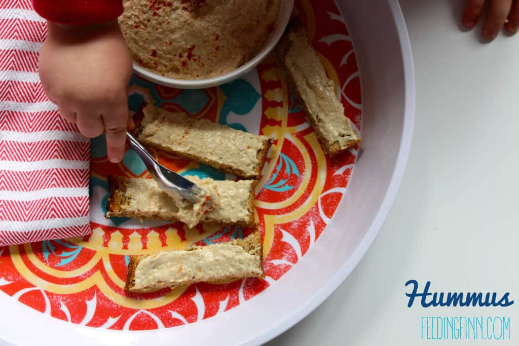 toast topping hummus