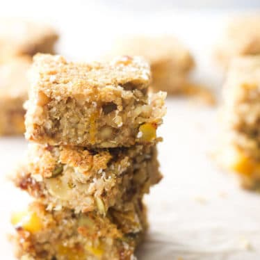 Fruit and nut quinoa bars. Quinoa, nuts, seeds and dried fruit combined to make this high energy snack. No refined sugar. Gluten Free. Dairy Free.
