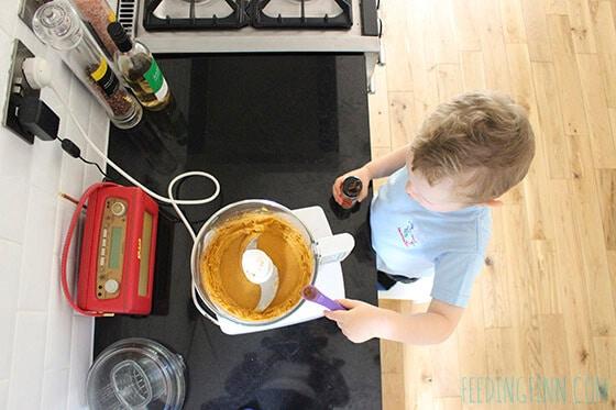 finn making truffles