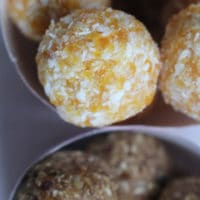 Healthy Treats for a new mum - Apricot and coconut balls