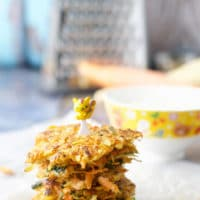 These carrot and parsnip fritters are a great way to get kids eating veggies. A delicious finger food perfect for babies and toddlers but something the whole family will enjoy.