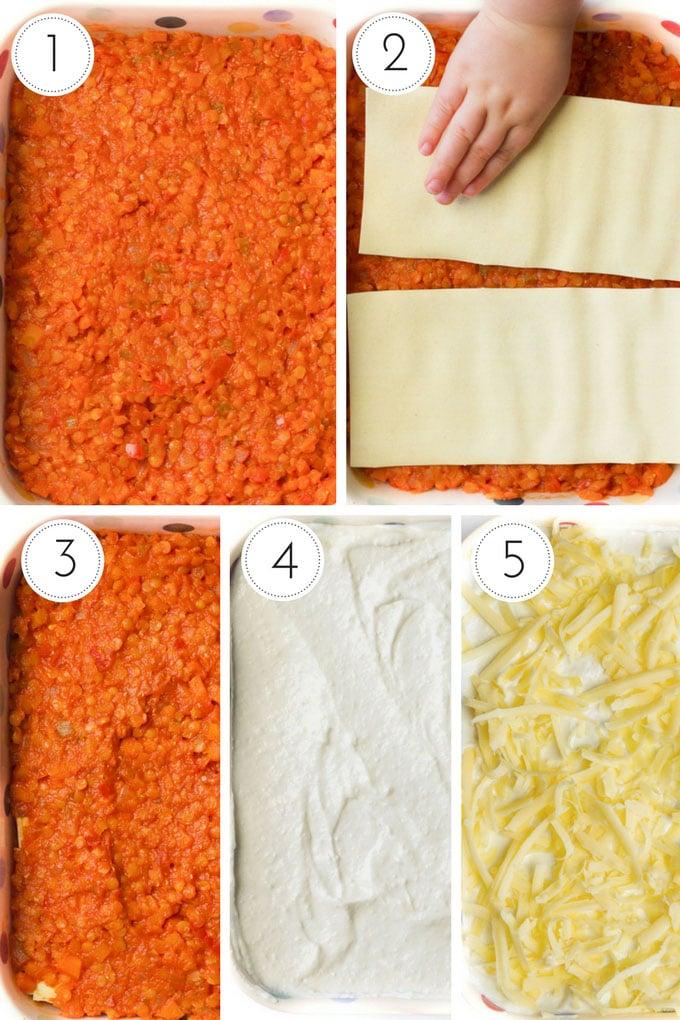 Lentil Lasagne Process Steps