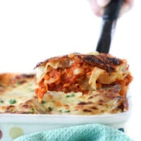 Red lentil lasagne. A delicious vegetarian lasagne perfect for kids and baby-led weaning.