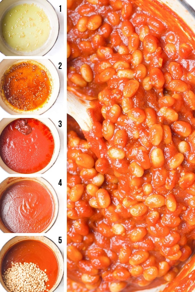 Process Steps for How to Make Homemade Baked Beans
