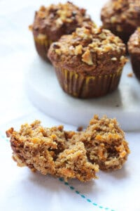 carrot apple muffins (no refined sugar)