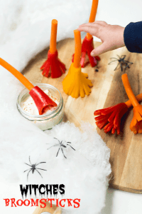 Witches Broomsticks (Healthy Halloween Snacks)