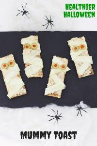 Mummy Toast (Healthier Halloween Snacks)