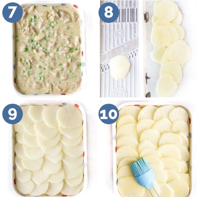 How to Assemble Chicken and Potato Bake (4 Process Steps)