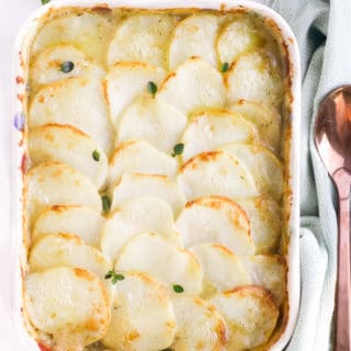 Chicken Potato Bake Just Out of the Oven