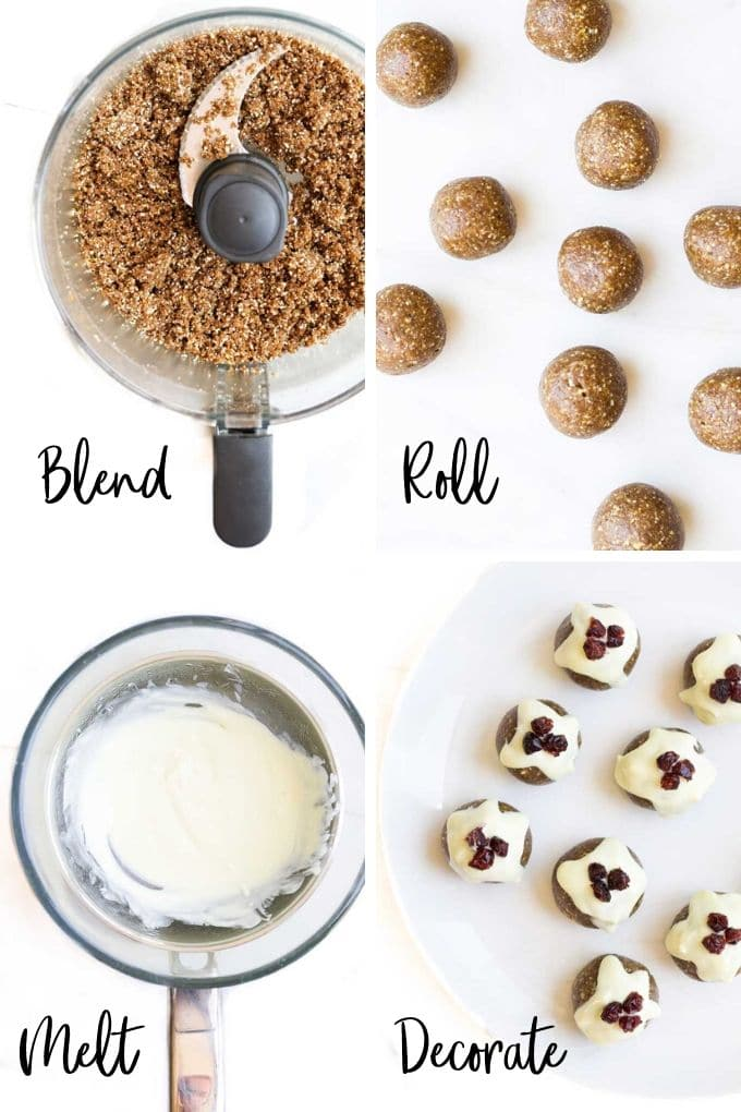 Process Step Image Collage - How to Make Christmas Bliss Balls
