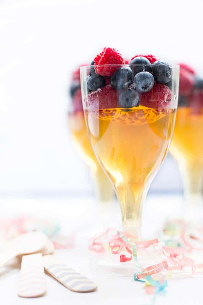 Hogmanay Fruit Juice Jelly. A fun treat for kids celebrating the new year.