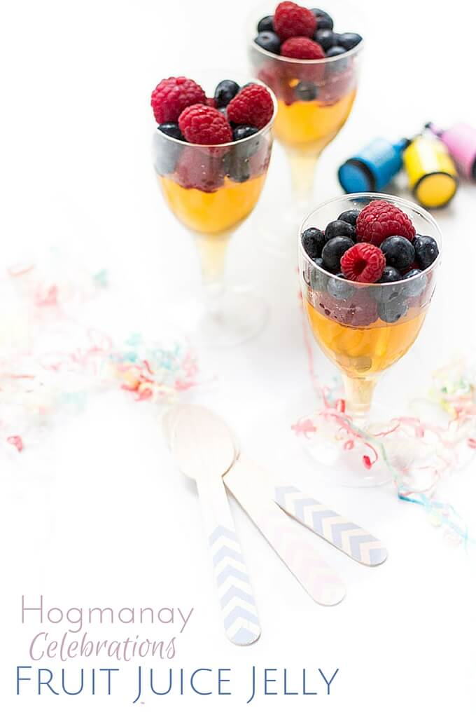 Hogmanay Fruit Juice Jelly. A fun and healthy New Years Celebration treat for kids