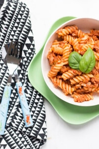 Tuna Tomato Pasta an economical, quick and tasty family dish Great for BLW and kid friendly.