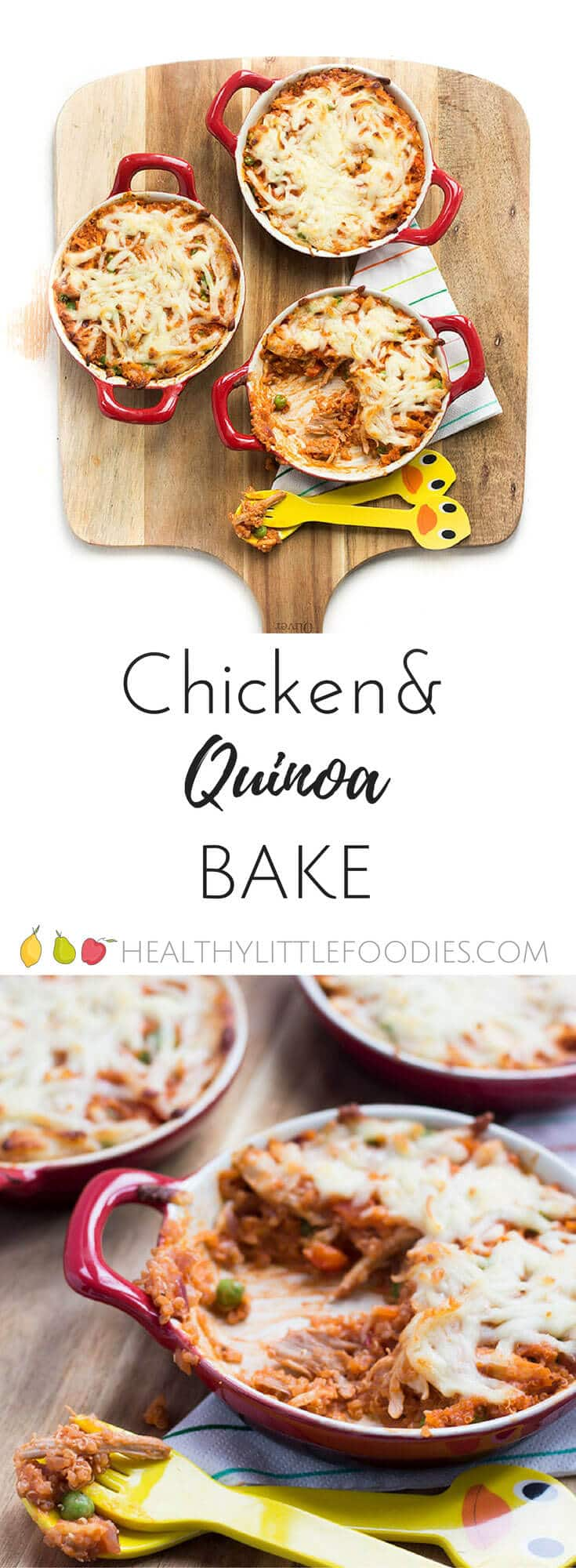 Chicken and quinoa bake a great family dish and a good way to introduce quinoa to the kids.