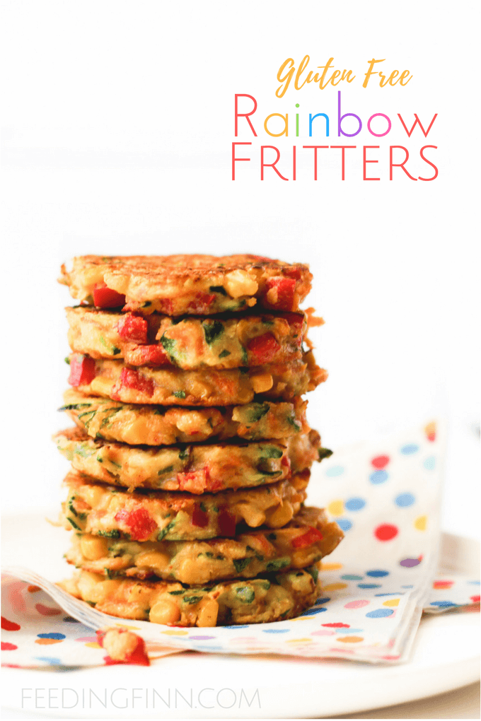 These rainbow fritters are a perfect finger food for kids and are great for blw (baby-led weaning) Packed with veggies for nutrients and made with chick pea flour for extra protein. Gluten free.