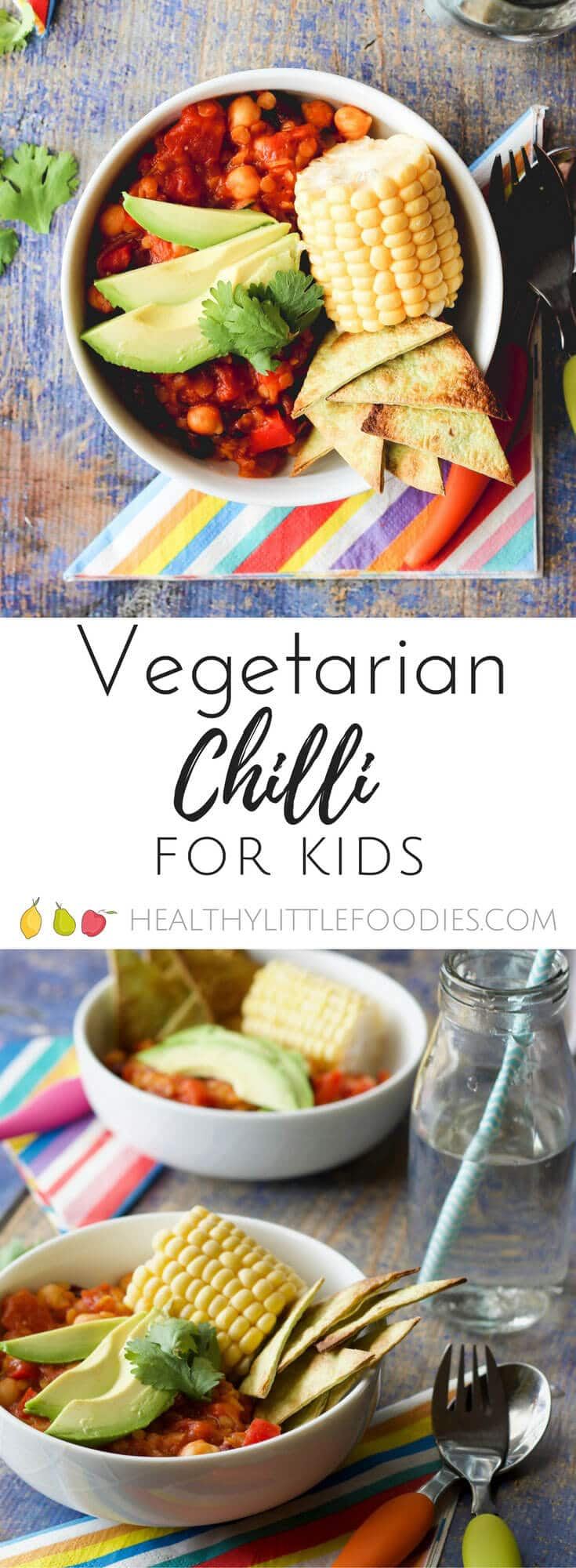 vegetarian chilli for kids. A one pot meal packed with hidden veg. vegan, vegetarian, dairy free & healthy.