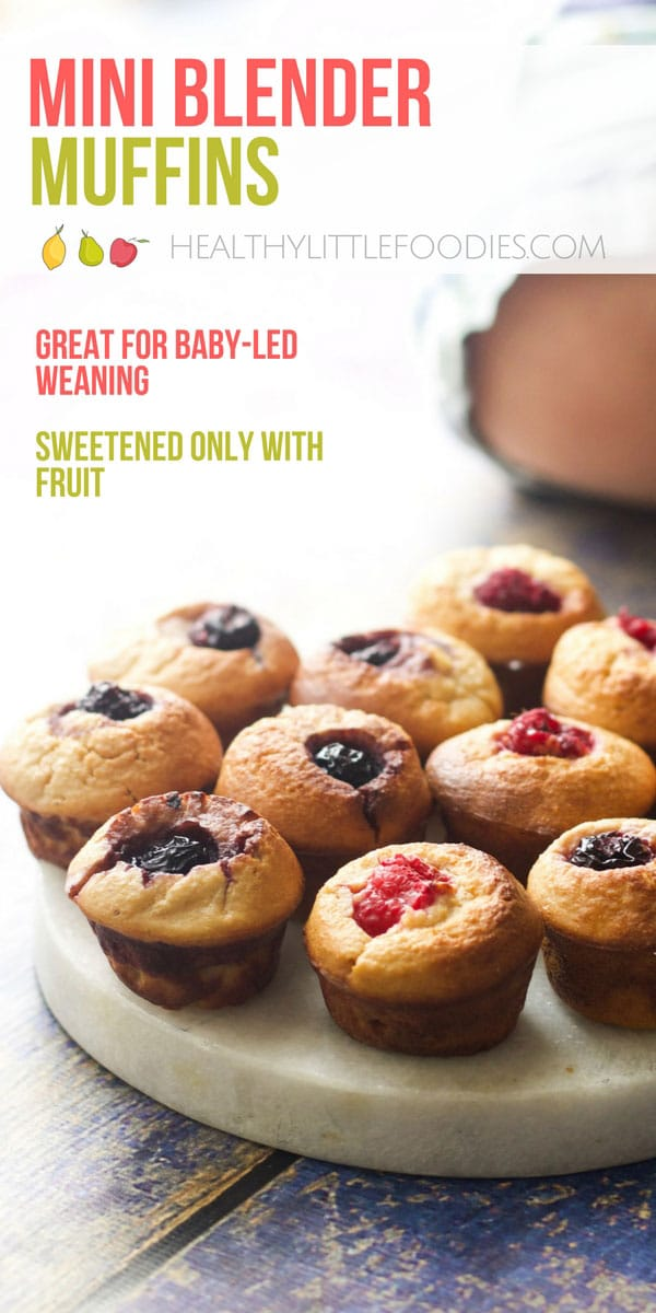 Muffins perfect for babies and toddlers. No refined sugar, sweetened only with fruit. Super easy to prepare and make. Great for lunchboxes or toddler snacks.