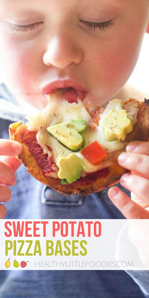 These sweet potato pizza bases are great for baby led weaning, toddlers and big kids. Can be used is a variety of ways, detailed in recipe. 4 ingredients