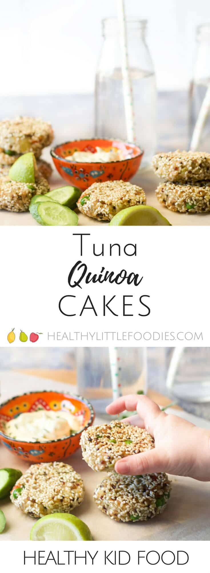 These tuna quinoa cakes are great as part of a main meal or can be popped into the lunch box the next day. #Freezer friendly. #Gluten Free #Dairy Free.